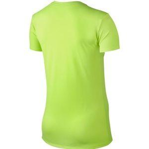 93c753ed Nike Tops | Safety Green Drifit Vneck Size M Top | Poshmark